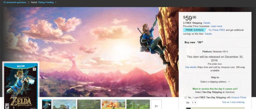 The Legend of Zelda: Breath of the Wild anticipato al 30 dicembre su Wii U?