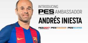 Andrés Iniesta, capitano del Barcelona, è ambasciatore ufficiale di PES