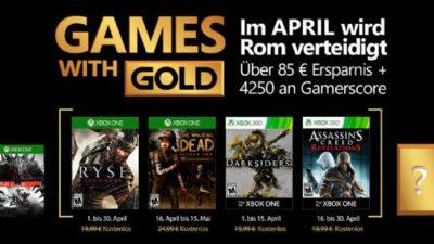 Sveltati per errore i Games with Gold di Aprile?