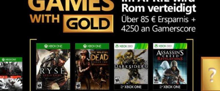 Games With Gold: disponibili i giochi di metà aprile