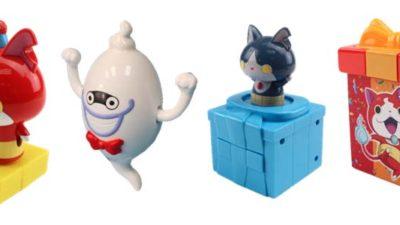 I giocattoli di Yo-Kai Watch nell'Happy Meal di McDonald's dal 21 luglio al 17 agosto