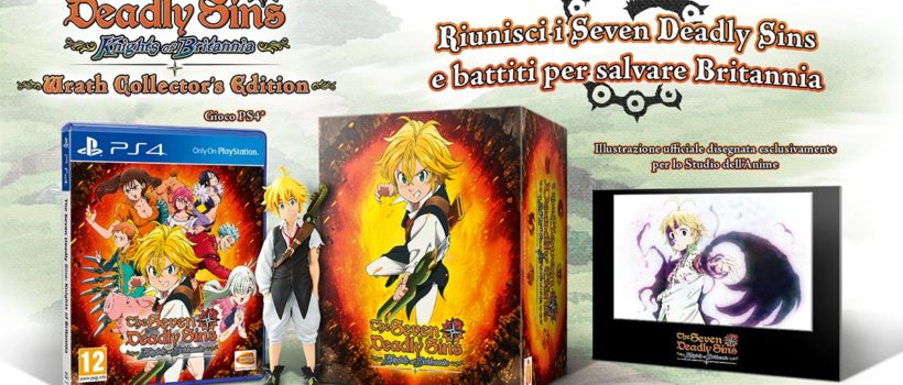 The Seven Deadly Sins: Wrath Collector's Edition, ecco contenuti e data di uscita
