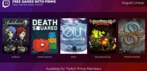 Twitch Prime: svelati i giochi gratuiti di agosto 2018