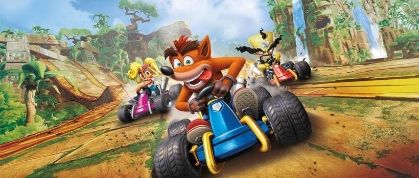 Crash Team Racing Nitro-Fueled, il nuovo video gameplay ci mostra due stage: Dragon Mines e Retro Stadium