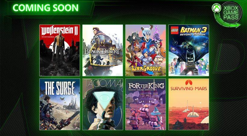 Xbox Game Pass, svelati i primi titoli di maggio: arrivano Wolfenstein II: The New Colossus, The Surge e tanti altri