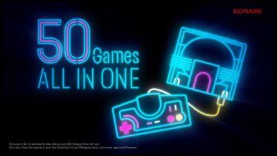 PC Engine Core Grafx mini, Konami svela dettagli e giochi della console con un nuovo trailer