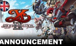 Ys IX: Monstrum Nox annunciato per PS4, PC e Nintendo Switch: arriverà nel 2021